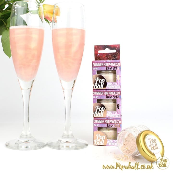 Shimmer With Bubbles For Prosecco And Fizz Large Wood Box Gift Set - Fizz