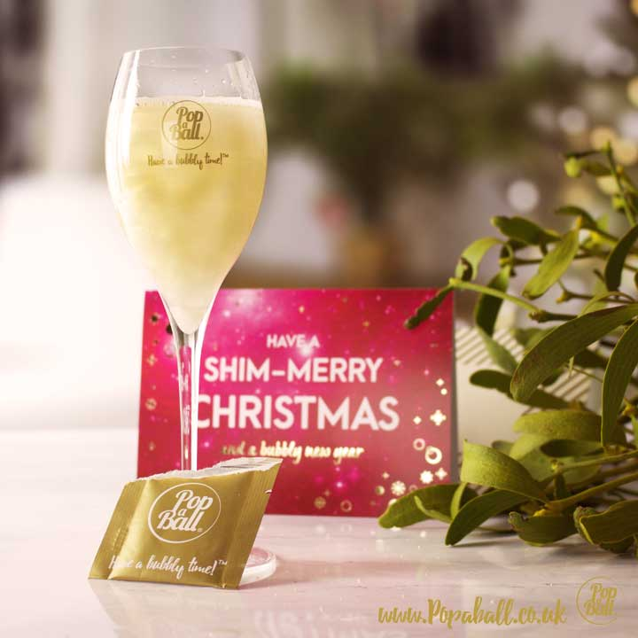 drink shimmer christmas card