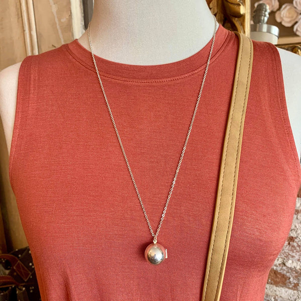 Silver Round Ball Necklace