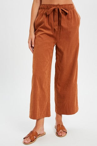 extured luscious wide leg crop pants