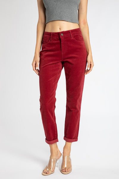 Boyfriend Cords in Red