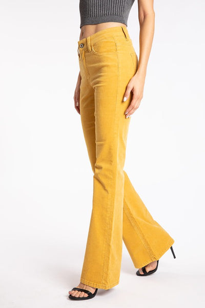 Golden bootcut cords KC6299YL