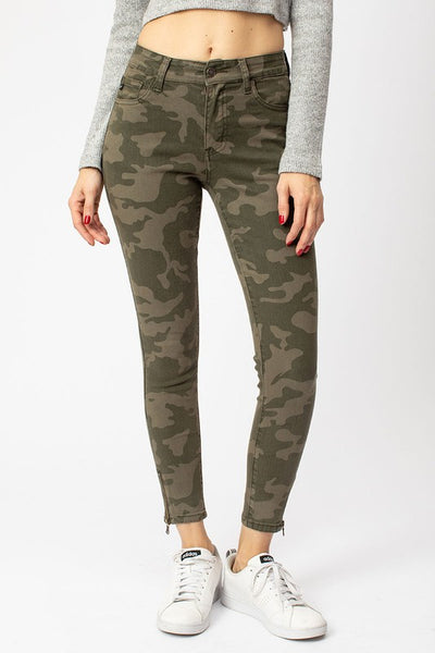Camo skinny with ankle zip KC6306OL