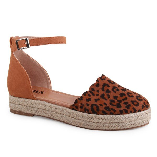 Closed Toe Leopard Espadrille