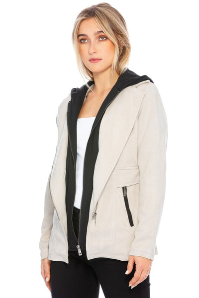 Ace Of Suede Hooded Jacket
