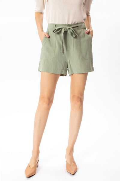 Olive Tailored Shorts - KW1007SG