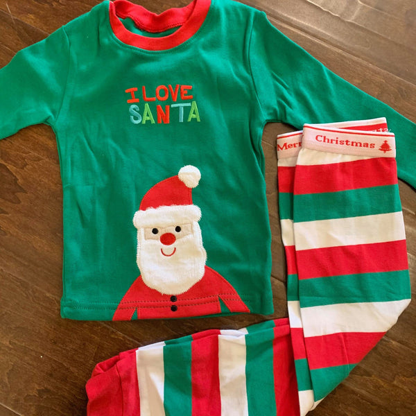 I LOVE SANTA Jammies