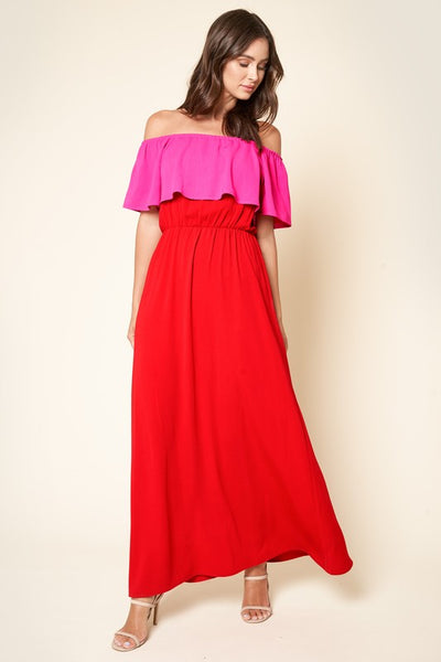 Miri Off The Shoulder Maxi Dress