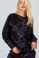 Tie dye midnight fleece sweatshirt