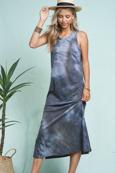 Cloudy Tie-Dye Long Dress