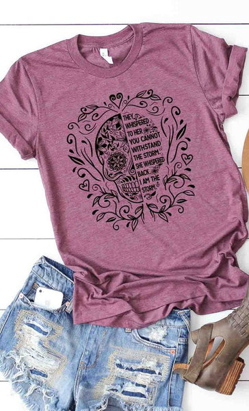 Sugar Skull quote graphic tee
