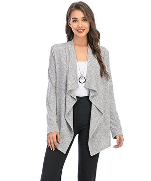 Open Front Knit Cardigan-NOT AS PICTURED, CARDIGAN IS BLACK