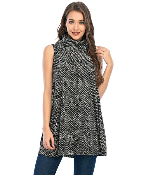 Cowl neck Sleeveless Tunic