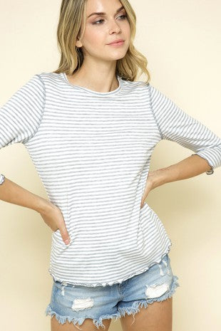 Marrow Hem Striped Top *NOT AS PICTURED*