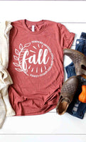 Fall, pumpkins, hayrides, cider, leaves tee