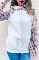 Quilted Floral Knit