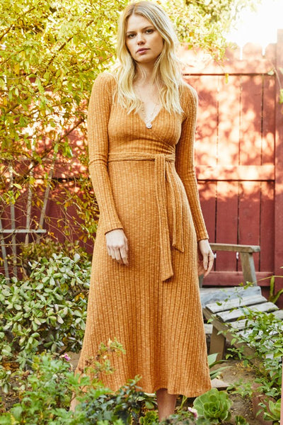 Wrap Midi Dress (2 colors)