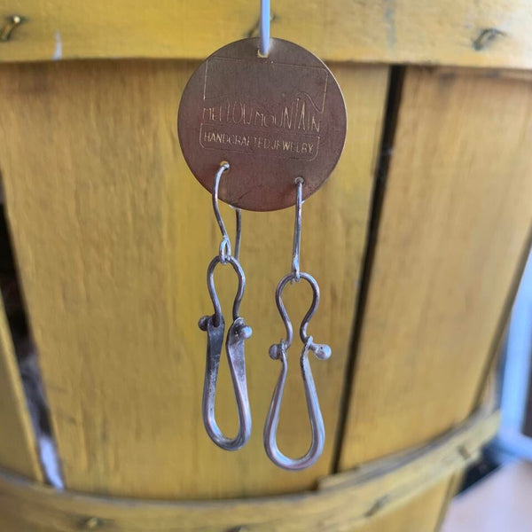 One of a kind silver moving parts earrings