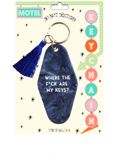 Where the F*ck Are My Keys Keychain
