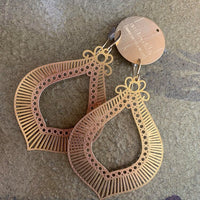 laser cut large teardrop earrings