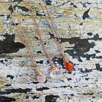 rose gold dainty gem pendants
