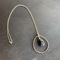 Slate Gray Pendant Necklace
