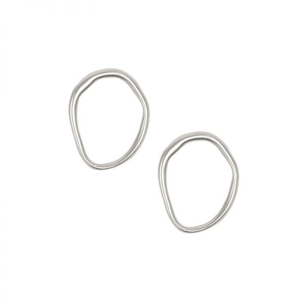Irregular Oval Post Earring