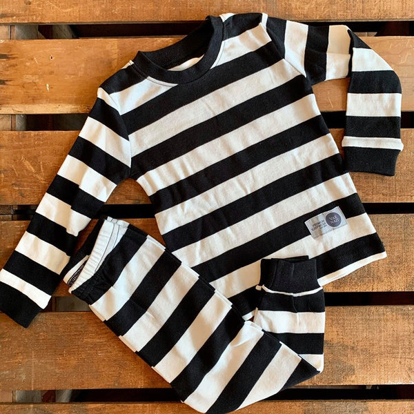 Black Stripe Jammies