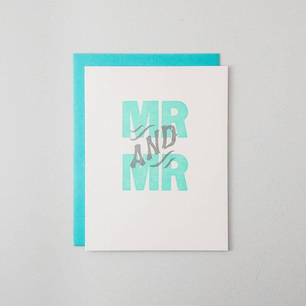 Mr. And Mr. Letterpress Card