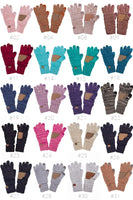 C.C Two Tone Touch Screen Compatible Gloves