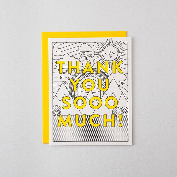 Thank You Sooo Much Letterpress Card