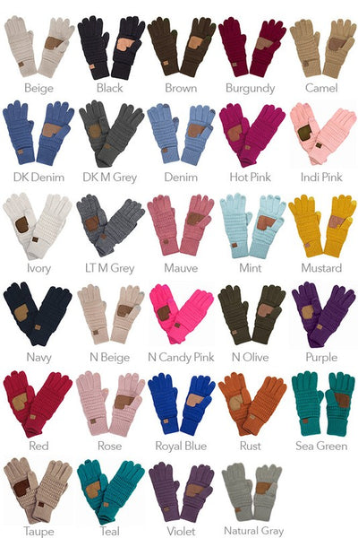 C.C Knitted Touch Screen Compatible Gloves