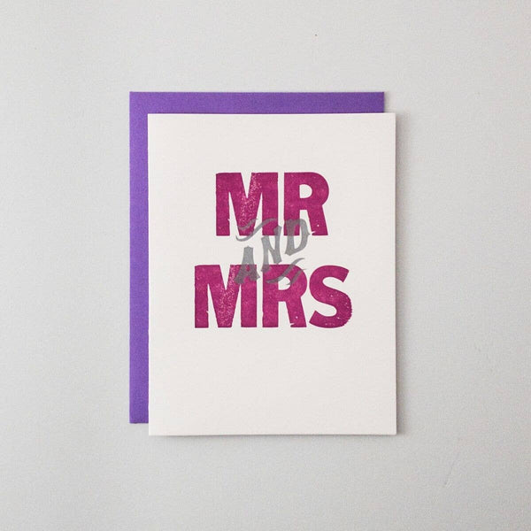 Mr And Mrs Letterpress Card