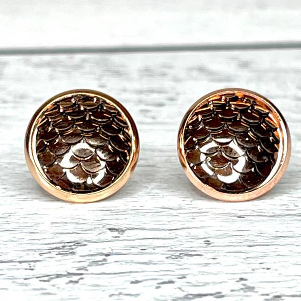 Bronze Mermaid Earrings 12mm