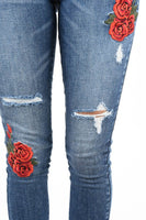 Floral embroidery high rise KC5074D