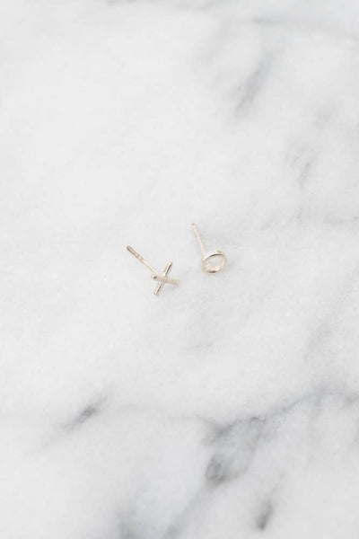 XO Stud Earrings |  .925 Silver or 14k Gold | Janna Conner