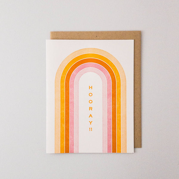 Hooray!! Letterpress Card