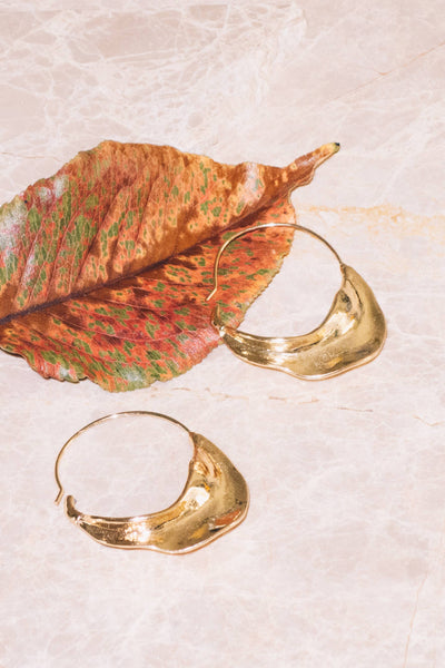 Taye Hoop Earrings | 18k Gold Plating