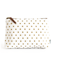 Travel Pouch - Gold Dots
