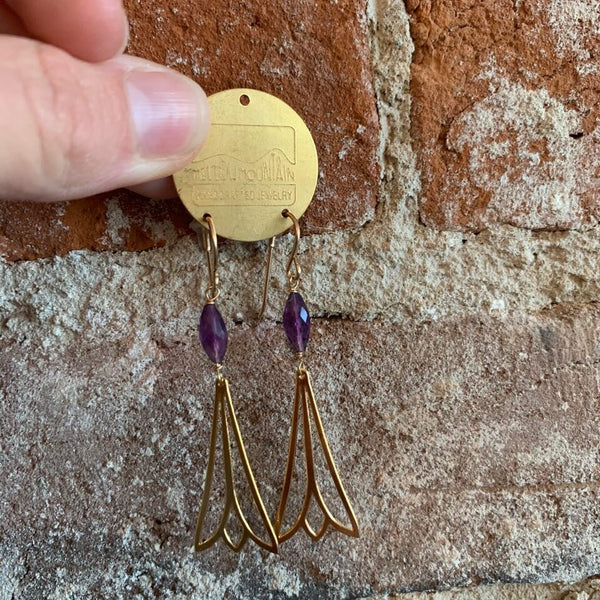 amethyst deco earrings