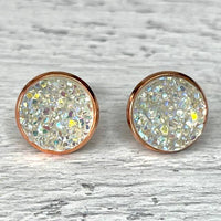 Frost Druzy Earrings 12mm