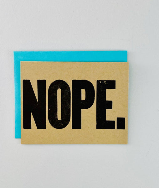 Nope. Letterpress Card