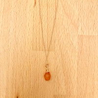 Rose gold gemstone necklaces 18""