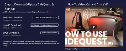 Sidequest -Side Quest - Oculus Quest 2 -