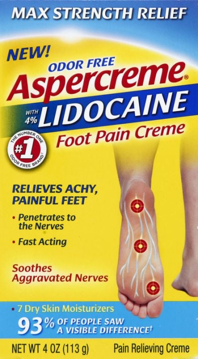 Aspercreme with 4% Lidocajne