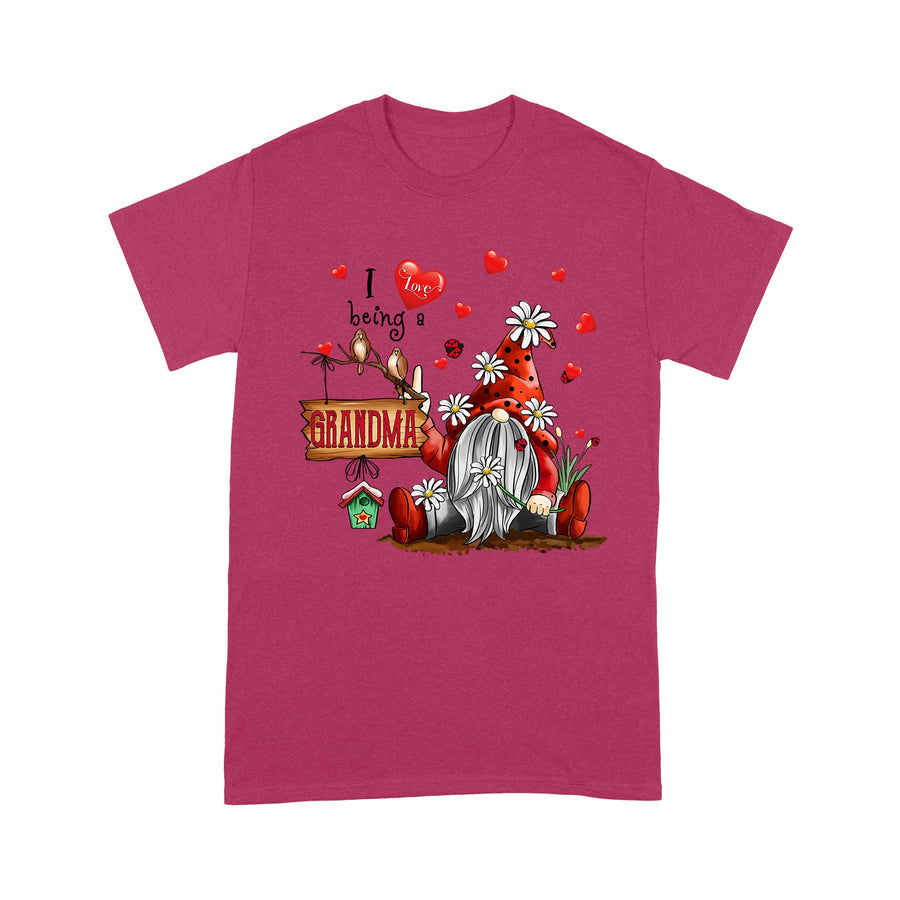 Patrick's Day T-shirt Irish Red Gnome I Love Being A GRANDMA Lucky Spring - Patrick's Day Gift