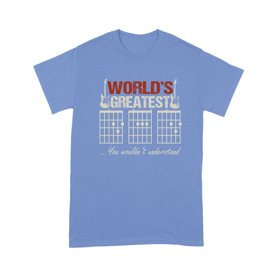 World's Greatest Guitar Dad - For Dad - Standard T-shirt