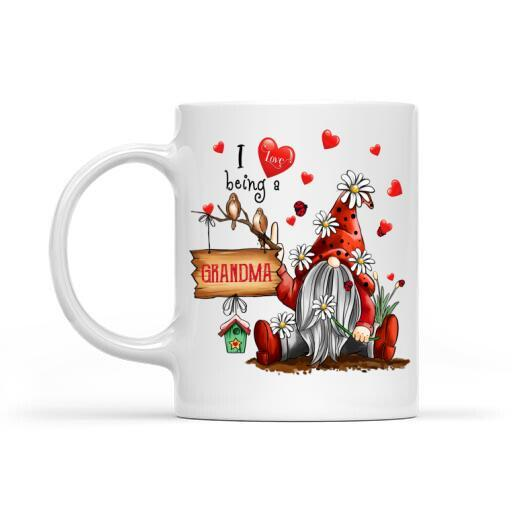 St.Patrick's Day Personalized Mug I Love Being You Want St.Patrick Red Gnome With Lucky Spring - St. Patrick's Day Gift