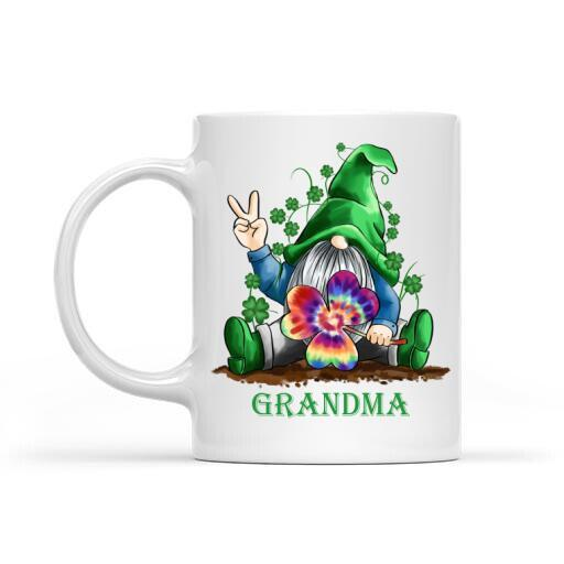 St. Patrick's Day Gift Customize Mug St. Patrick Gnome Lover With Colorful Lucky Shamrock -  St. Patrick's Day Mug