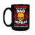 Tough Enough To Be Dad And Stepdad - Black Mug